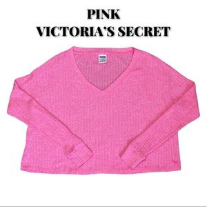 NWOT PINK Pink Cropped Sweater, Size XSmall